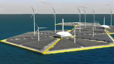 Proponen construir islas artificiales que extraigan energía de los mares